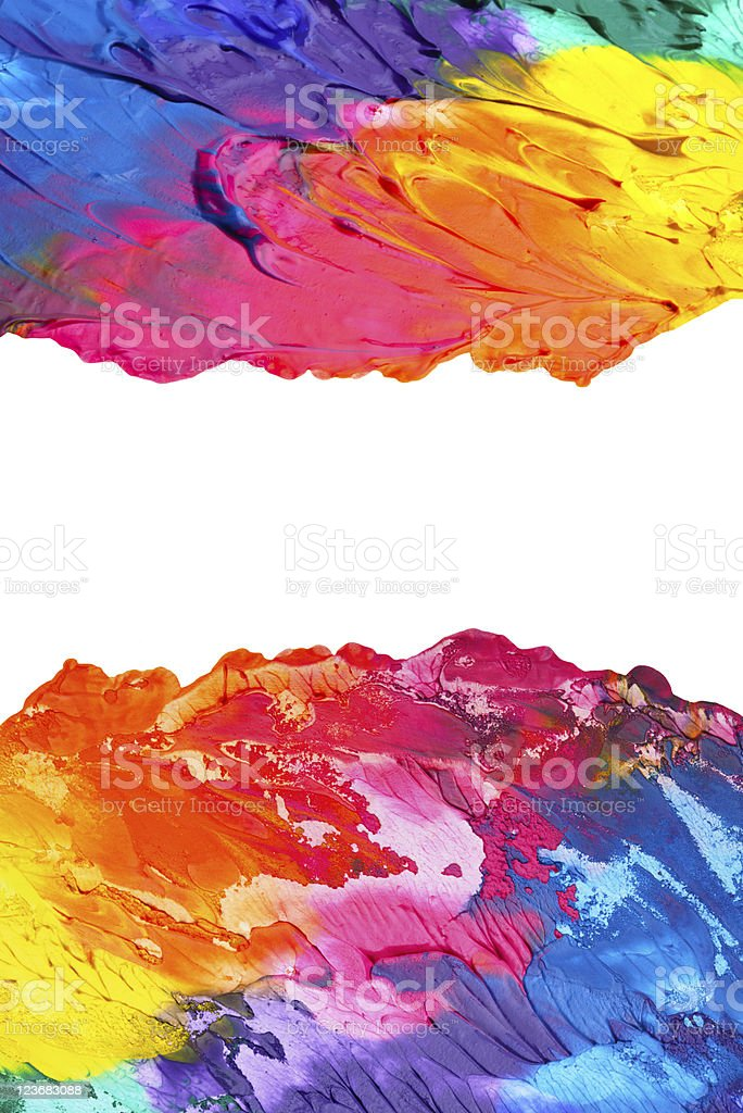 Abstract acrylic painted background royalty-free abstract acrylic painted background stock vector art & more images of abstract