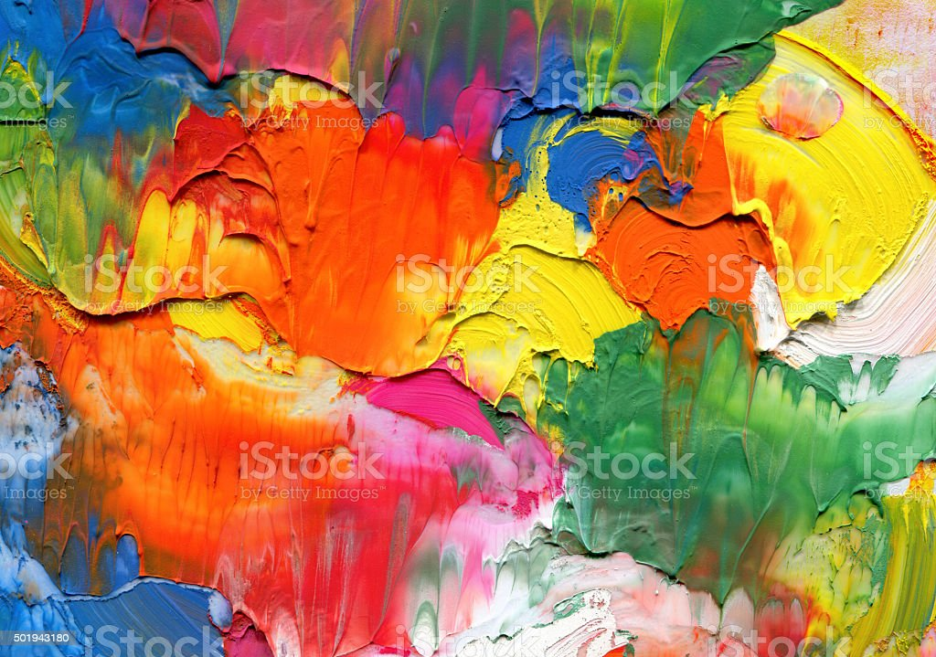 Abstract acrylic painted background vector art illustration