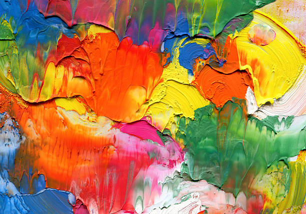 abstract acrylic painted background - acrylic painting stock illustrations