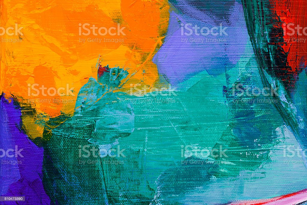 abstract acrylic painting vector art illustration