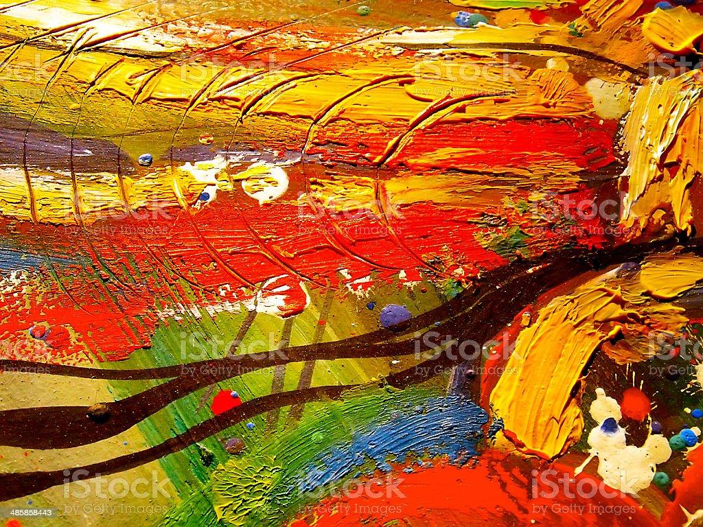 abstrait texture acrylique huile à la gouache et à la peinture