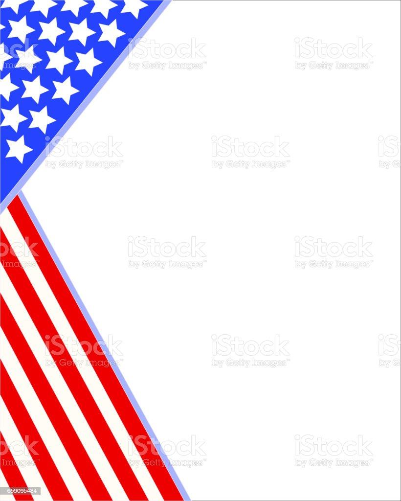 Ilustración de Marco De La Esquina De Bandera Americana Resumen y ...