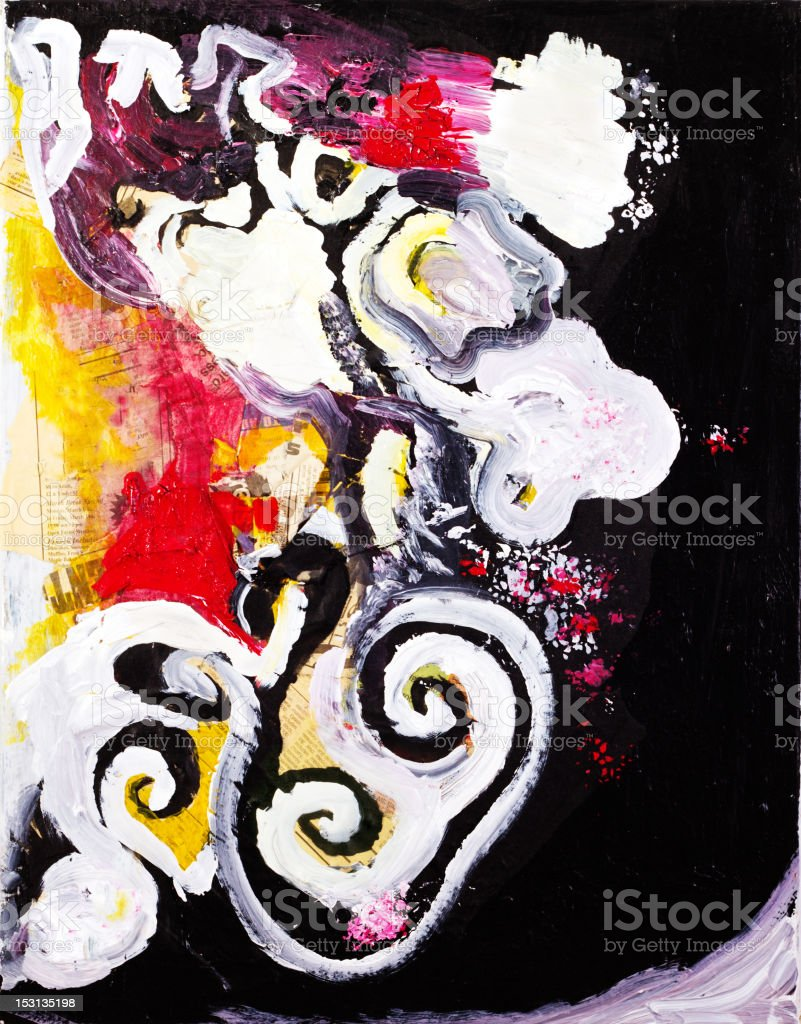 Abstract art acrylic painting vector art illustration