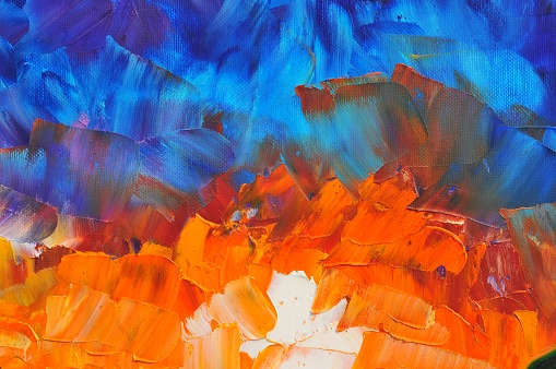 Abstract Art Background Blue White Dark Blue Orange Yellow Red Stock Illustration Download Image Now