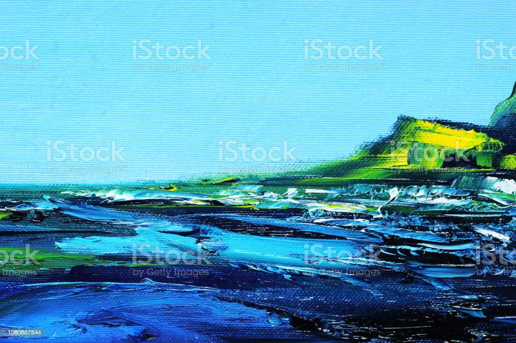 Abstract Art Background Blue White Turquoise Dark Blue Yellow Green Stock Illustration Download Image Now