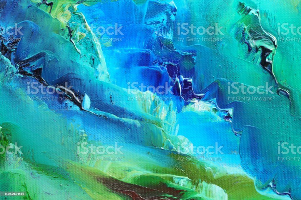 Abstract Art Background White Turquoise Dark Blue Green Black Lime Mint Stock Illustration Download Image Now