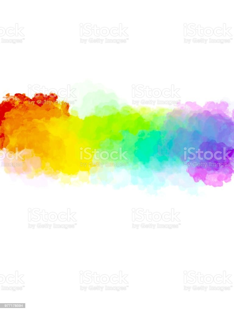 Abstract Art Colorful Watercolor Background Digital Painting