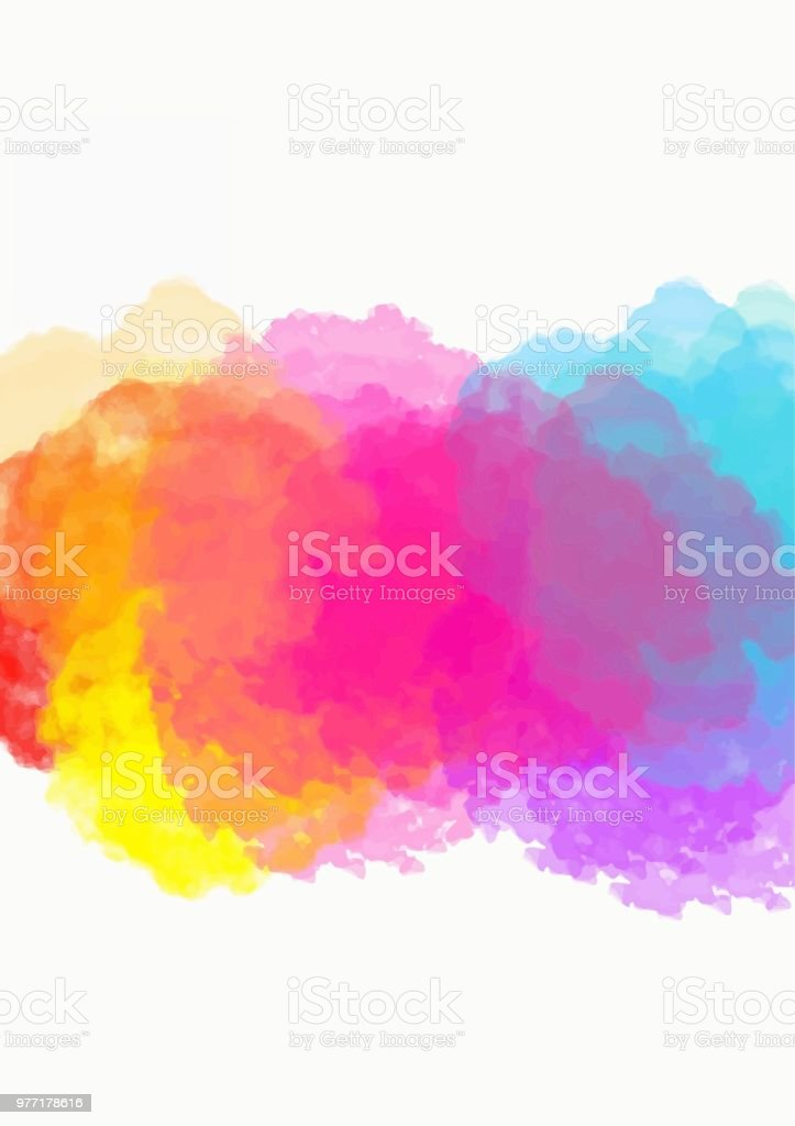 abstract art colorful watercolor background digital painting color