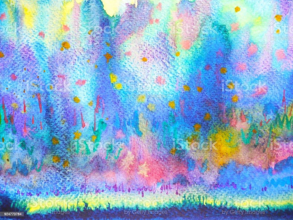Soyut Sanat Yagmur Dusen Gokkusagi Renkli Suluboya Resim Arka Plan