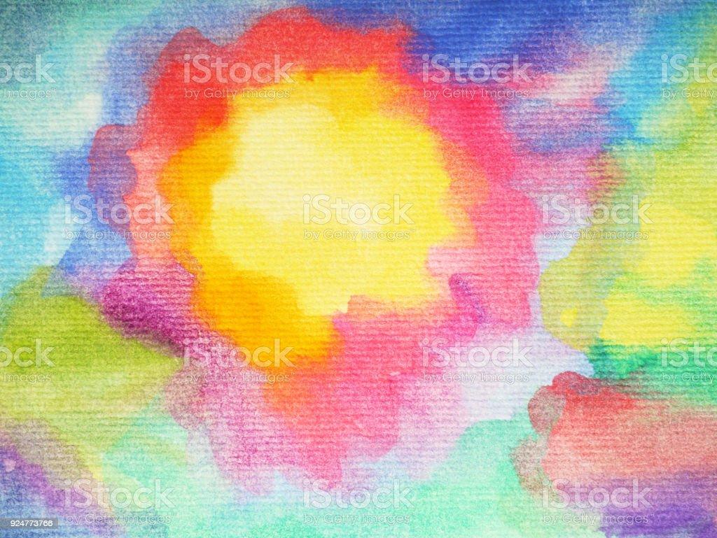 Soleil De Lart Abstrait Main De Fond Arc En Ciel Ensoleillé