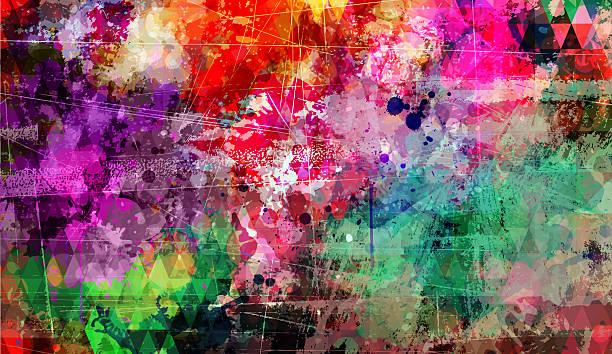 illustrations, cliparts, dessins animés et icônes de abstrait artistique fond coloré - art