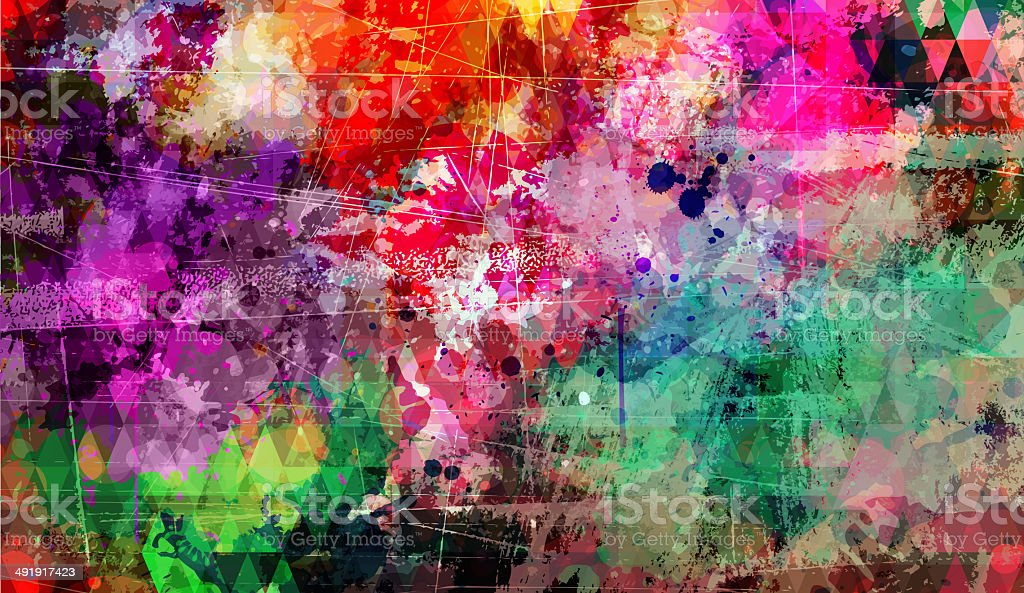 Abstract artistic colorful background vector art illustration