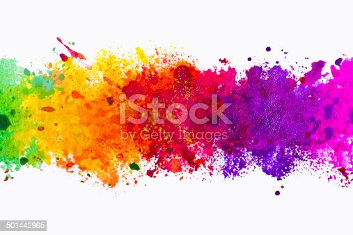 istock Abstract artistic watercolor splash background 501442965