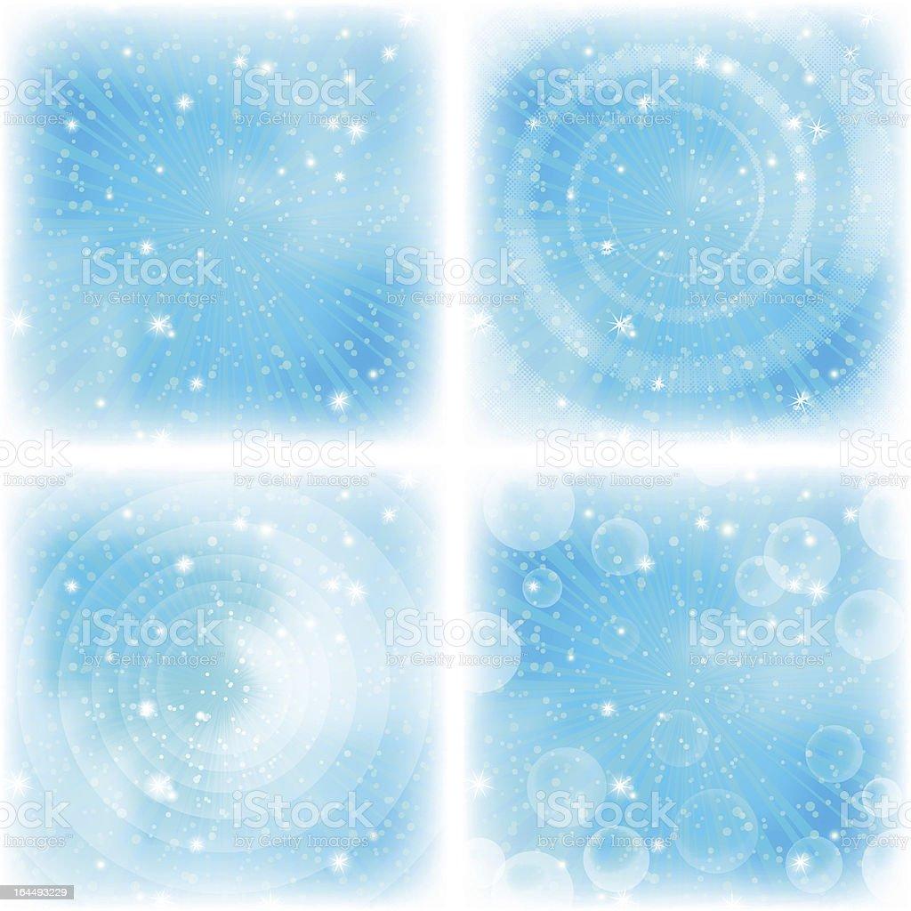 Sfondo Astratto Blu Acceso Set Immagini Vettoriali Stock E Altre