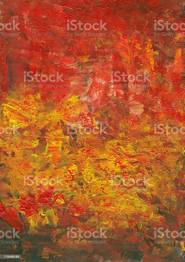 Abstract Background in Big Fire Colors royalty-free stock vector art