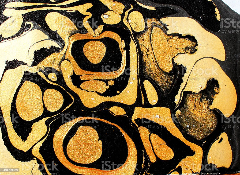 Abstract background. Ink marble texture. vector art illustration