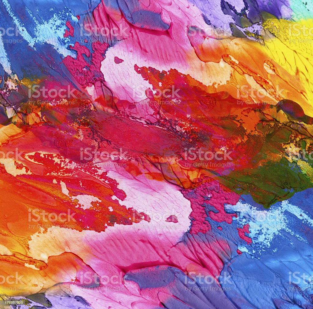 Abstract background of acrylic hand paint vector art illustration