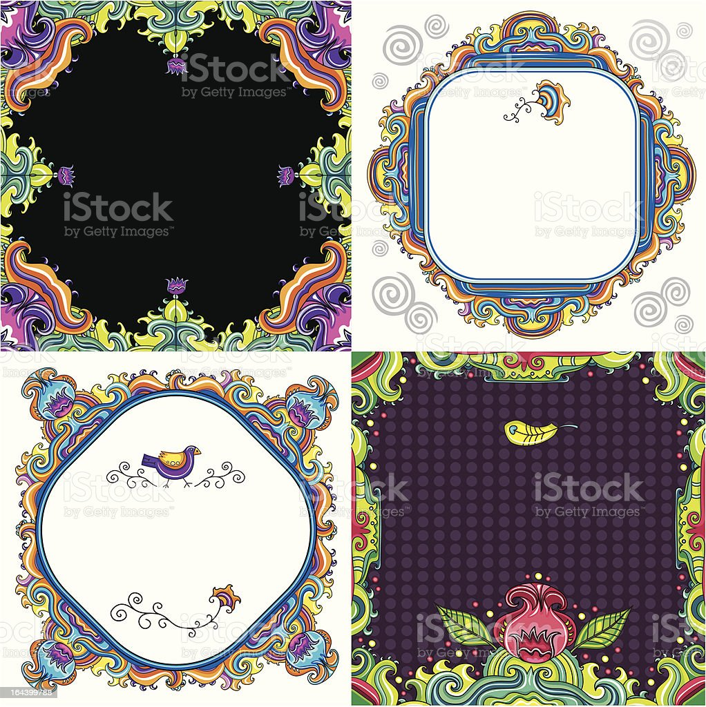 Abstract background set  ( floral series) royalty-free abstract background set stock vector art & more images of abstract