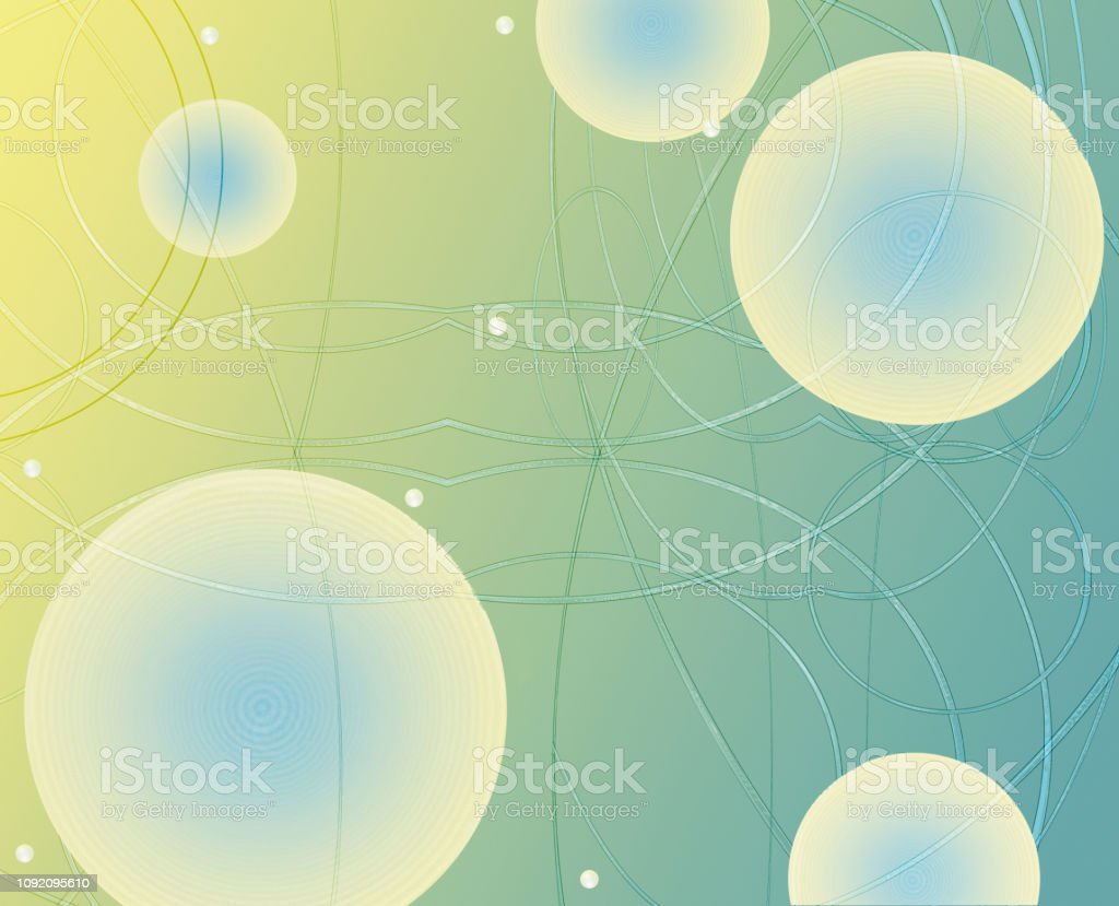 technology of the network and the sphere of geometry  - illustration