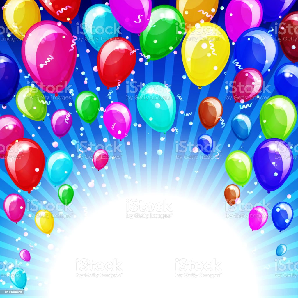Abstract background with balloons royalty-free abstract background with balloons stock vector art & more images of advertisement