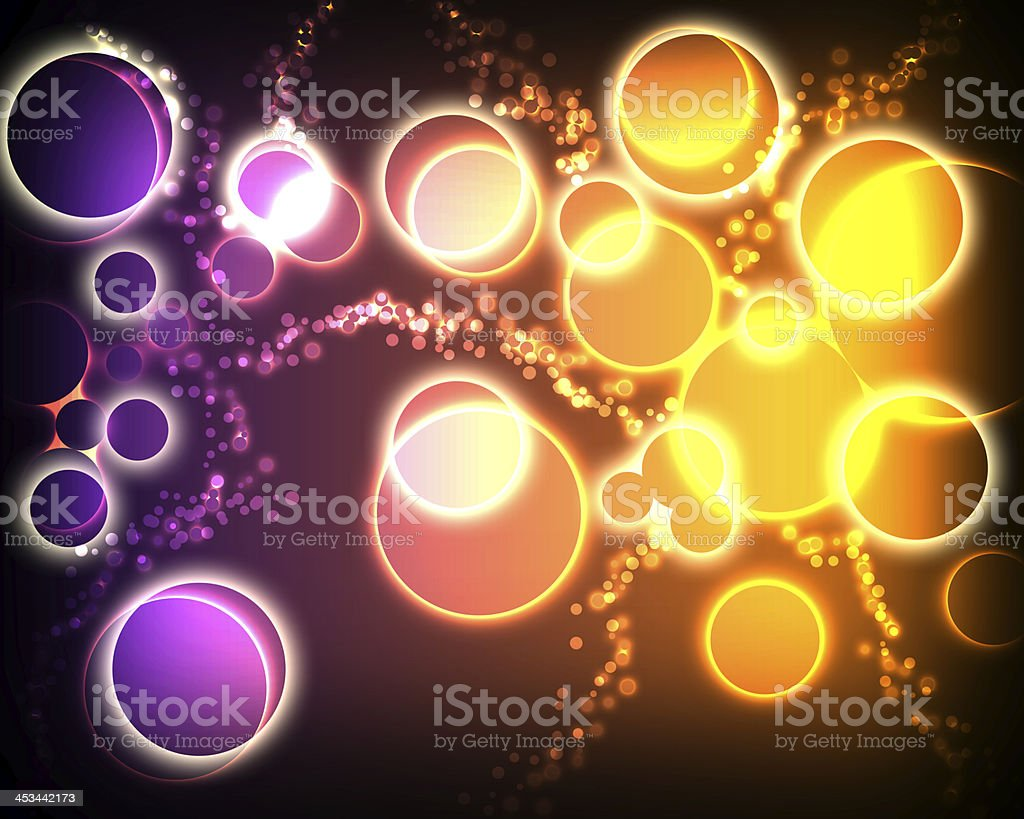 abstract background with glowing circles royalty-free stock vector art