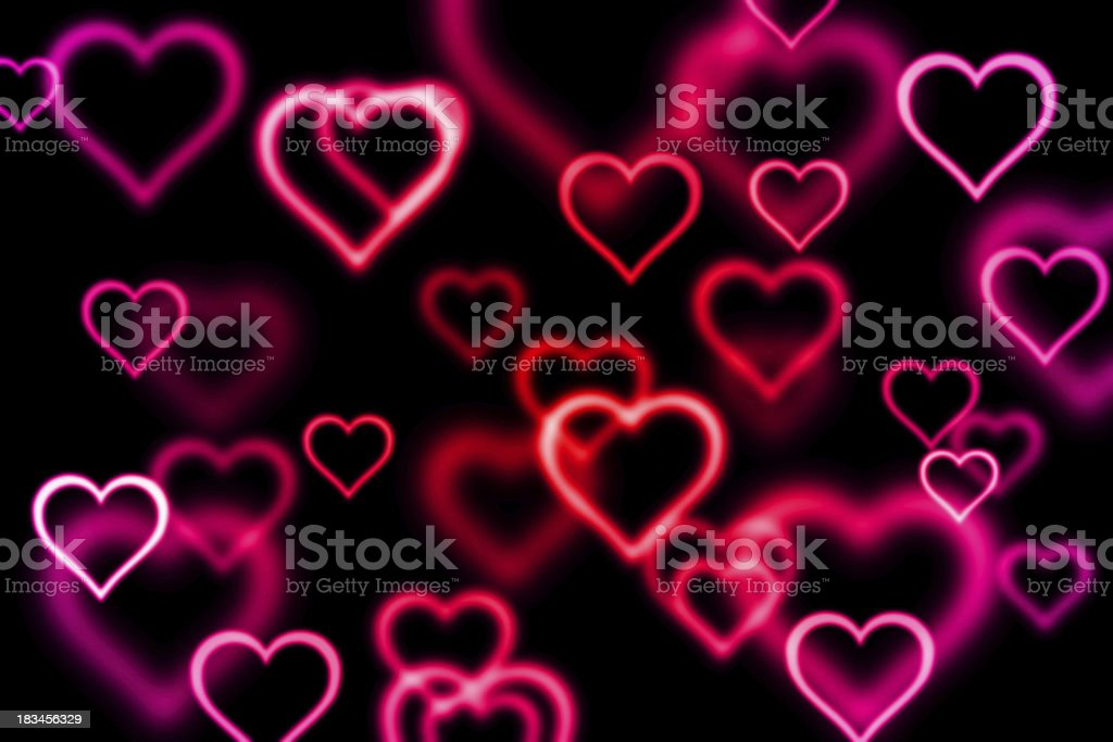 abstract background with heart royalty-free stock vector art