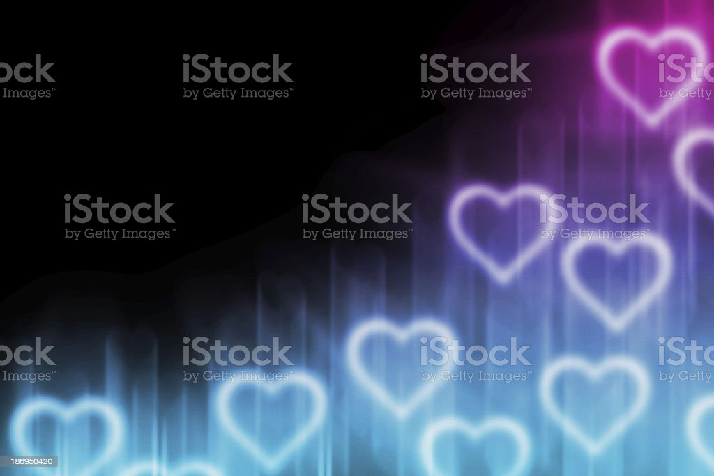 abstract background with light heart blank for text royalty-free stock vector art