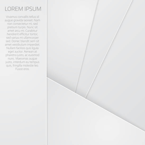 Abstract background with white paper layers vector art illustration