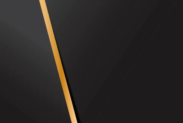 抽象黑色和金色幾何背景。向量藝術插圖