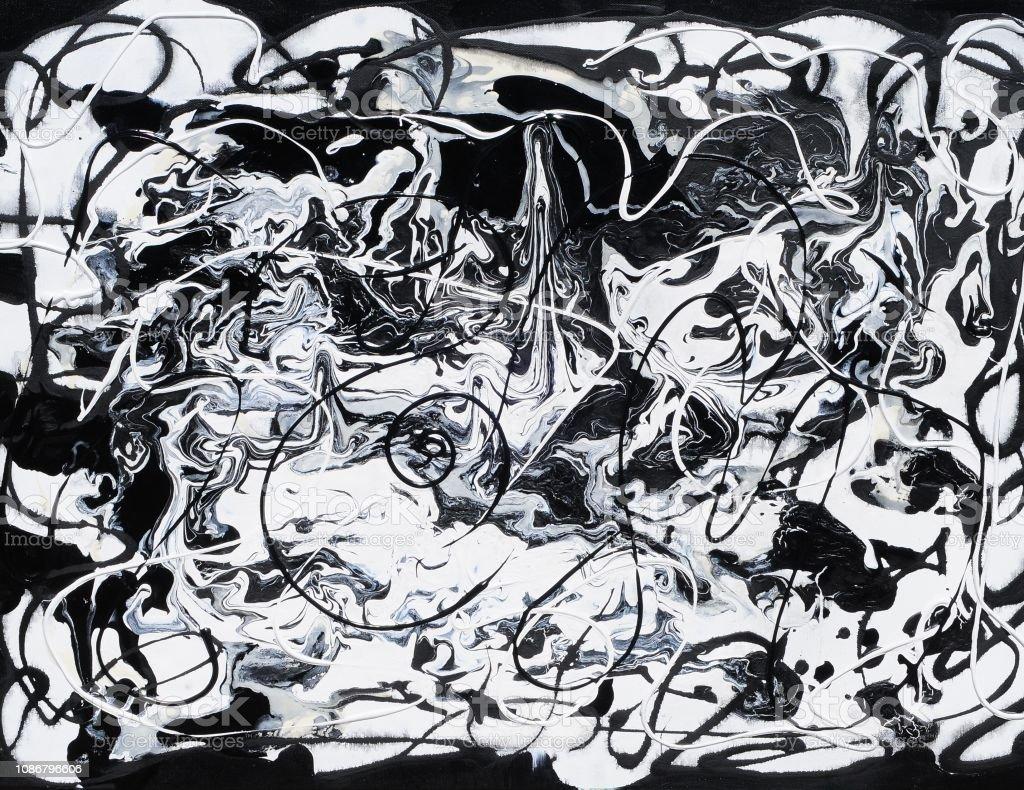 Spiksplinternieuw Zwartwit Hedendaagse Kunst Abstract Schilderij Stockvectorkunst en ZD-38