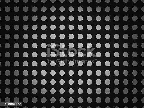 istock Abstract black background, black dots pattern, illustration image 1328967572