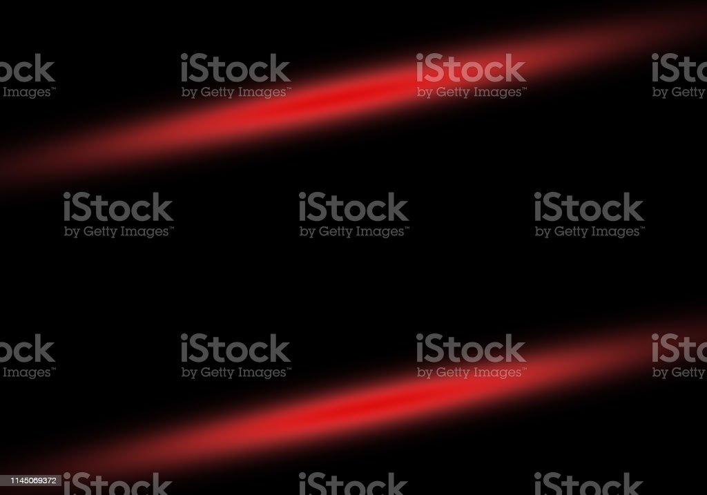 Abstract black background with red light rays lines with copy space...