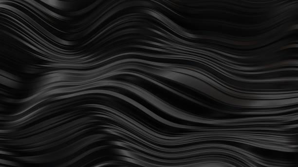 抽象黑色橡膠波浪 - 橡膠 幅插畫檔、美工圖案、卡通及圖標