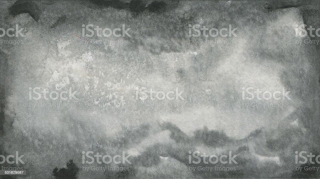 Abstract Black Watercolor Texture vector art illustration