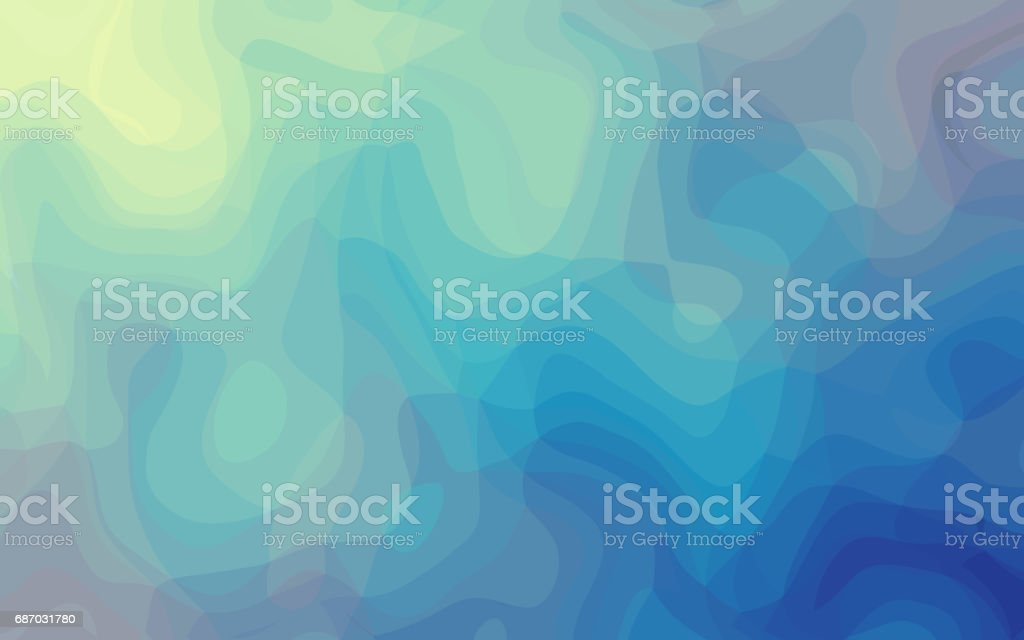 Abstract blue curve background Watercolor Soft blue smooth vector art illustration
