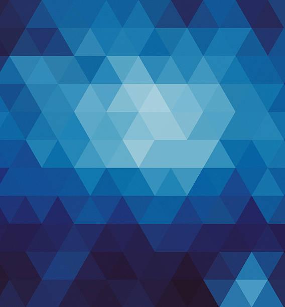Fundo geométrico abstrato azul - ilustração de arte em vetor
