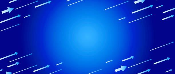 帶箭頭的抽象藍色漸變設計向量藝術插圖
