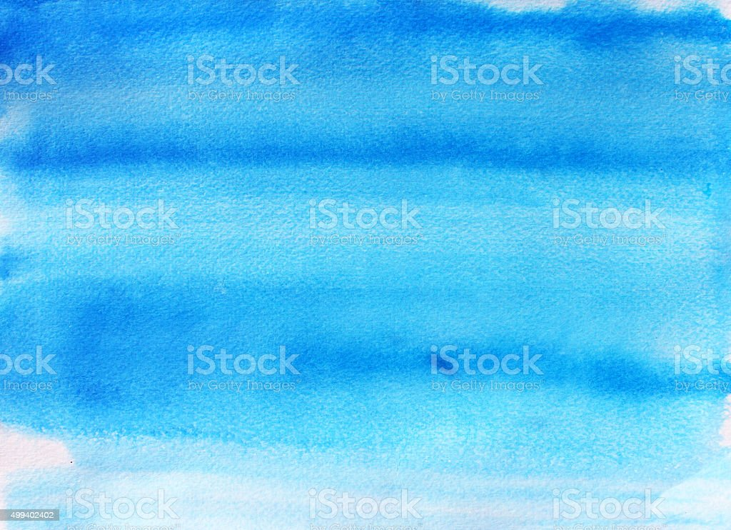 Abstract blue sky watercolor background. vector art illustration
