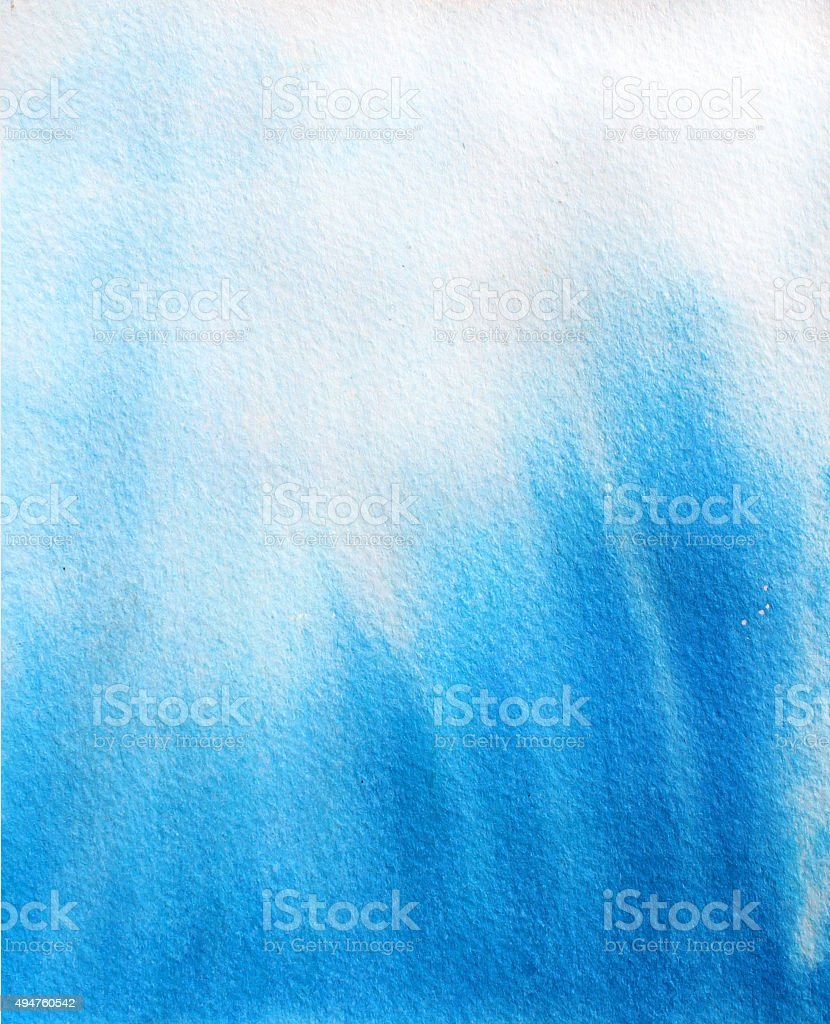 Abstract blue sky watercolor background. Imitation underwater or vector art illustration