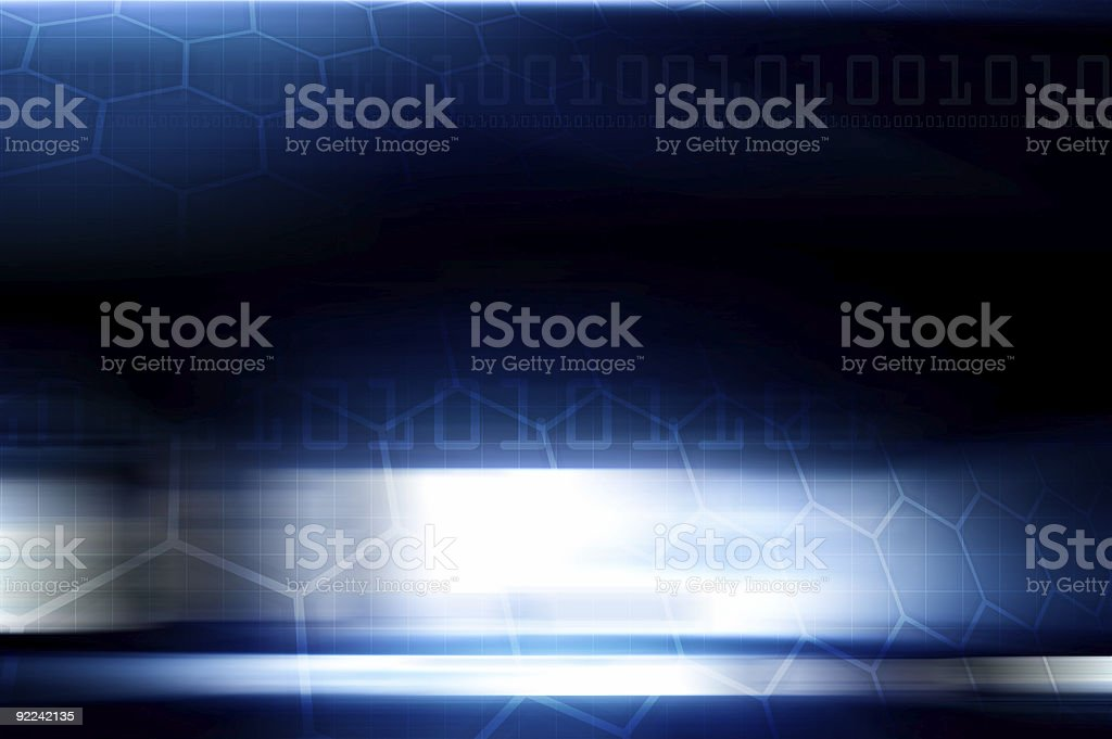 Abstract - Blue Technical Background vector art illustration