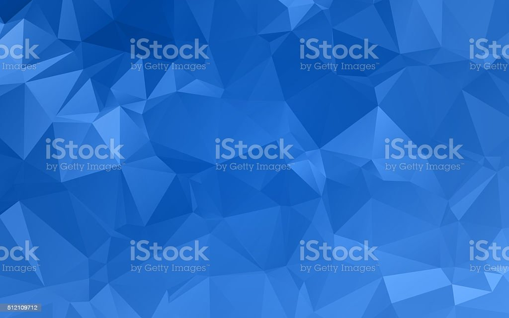 Abstract blue textured background with triangle shapes vector art illustration
