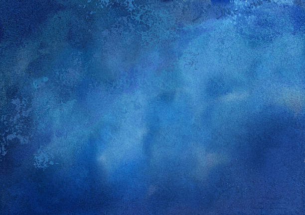 abstract blue watercolor background - blue sky stock illustrations
