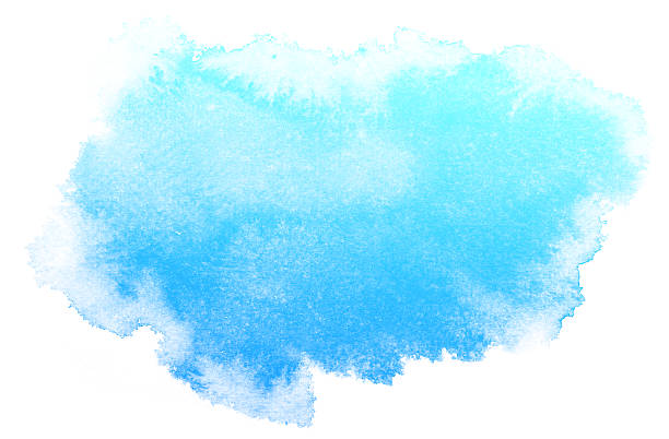 abstract blue watercolor background. - watercolor background stock illustrations, clip art, cartoons, & icons