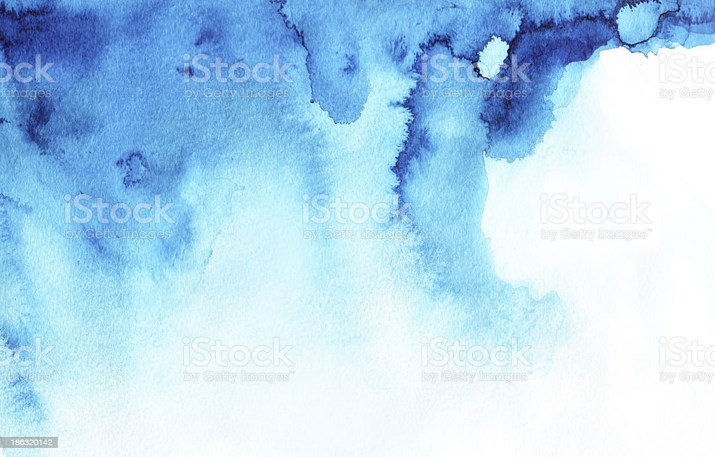 Abstract blue watercolor background image vector art illustration