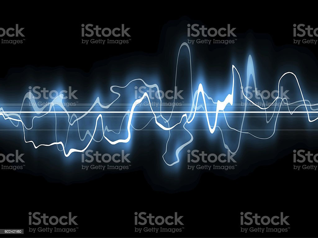 Abstract - Blue Waveform1 vector art illustration