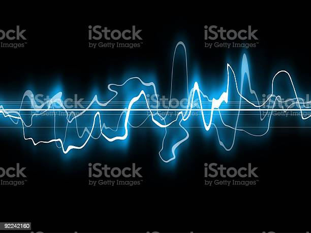 Abstract Blue Waveform1 Stock Illustration - Download Image Now