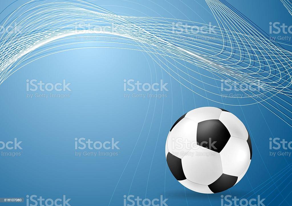 Blu Ondulato Astratto Sfondo Con Palla Calcio Immagini Vettoriali