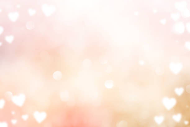 abstract blur beautiful pink color gradient and shine flash glowing background with illustration white heart shape light and valentines day 14 february concept - valentines day stock illustrations