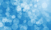 abstract blurred blue color background with light bokeh,