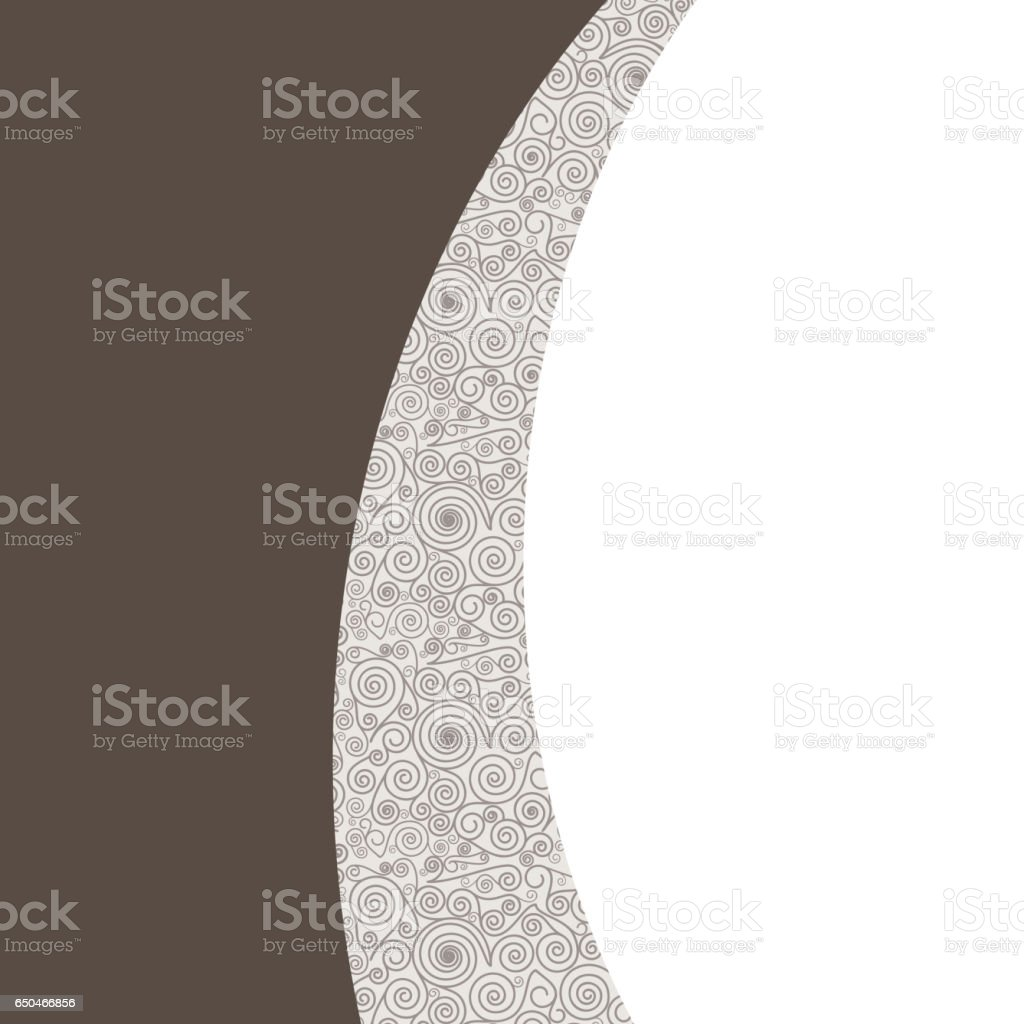 Abstract brown background vector art illustration